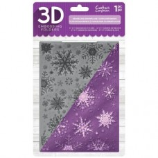 "Crafter's Companion 3D Embossing Folder 5""x7"" - Sparkling Snowflake"