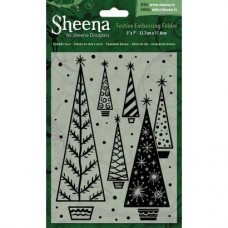 "Sheena Douglass 5""x7"" Xmas Folder - Twinklin' Trees"