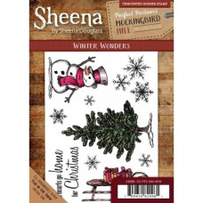 Sheena Douglass Perfect Partners Mockingbird Hill Rubber Stamp - Winter Wonders