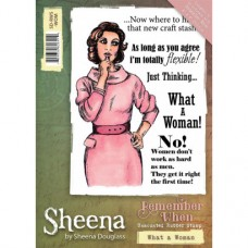 Sheena Douglass 'Remember When' A6 Stamp - What a Woman