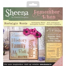 Sheena 'Remember When' Stencils - Nostalgic Words