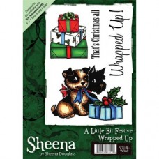 Sheena Douglass A6 Xmas Stamp - Wrapped Up