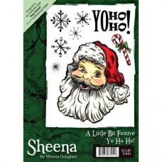 Sheena Douglass A6 Xmas Stamp - Yo Ho Ho!