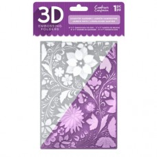 Crafter's Companion 3D Embossing Folder - Country Garden