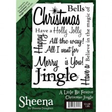 Sheena Douglass A6 Xmas Stamp - Christmas Jingle