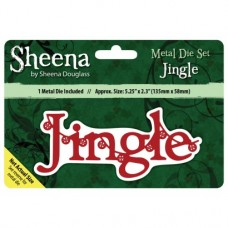 Sheena Douglass Xmas Sentiment Die - Jingle