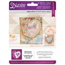 Die'sire 5x5 'Create-a-Card' Metal Die - Love is in The Air