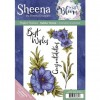 Sheena Douglass Perfect Partner In Full Bloom A5 Rubber Stamp - Adorable Anemone