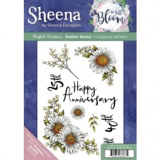 Sheena Douglass Perfect Partner In Full Bloom A5 Rubber Stamp - Gorgeous Gerbera