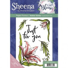 Sheena Douglass Perfect Partner In Full Bloom A5 Rubber Stamp - Luscious Lily