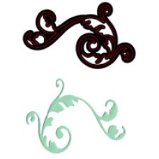 Crafts Too Cutting and Embossing Stencils - Elegant Flourish