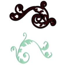 Crafts Too Cutting and Embossing Stencils - Elegant Flourish