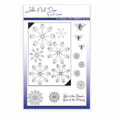 John Next Door Clear Stamp - Bee Balm Flowers
