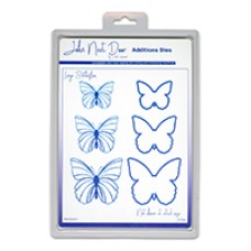 John Next Door Additions Dies - Large Butterflies (6pcs)