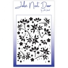 NEW John Next Door Mask Stencil - Floral Fantasia