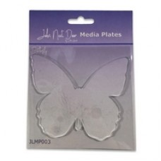 John Next Door Media Plate - Butterfly