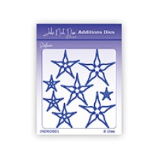 John Next Door Additions Dies - Starflowers 8pcs