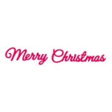 Presscut Cutting Die - Merry Christmas (2pcs)