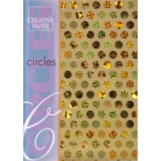 Circles Design Paper - Gold