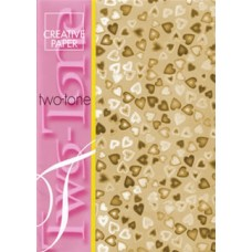 """Two Tone"" Hearts Paper - Gold"