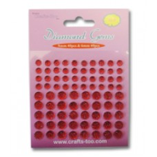 CRAFTS TOO DIAMOND GEMS 80PCS RED