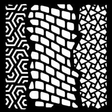 """Woodware 6"""" x 6"""" Stencil Trio"""