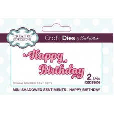 Mini Shadowed Sentiments Happy Birthday