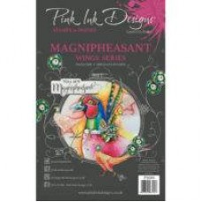 Pink Ink Designs Magnipheasant A5 Clear Stamp Set