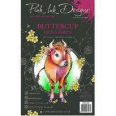 Pink Ink Designs Buttercup A5 Clear Stamp Set
