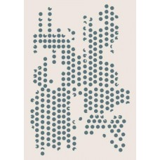 Sentimentally Yours A5 Stencil - Grunge Dots