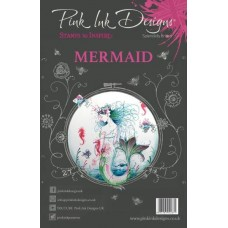 Pink Ink Designs A5 Clear Stamp Set Mermaid