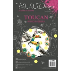 Pink Ink A5 Clear Stamp Toucan