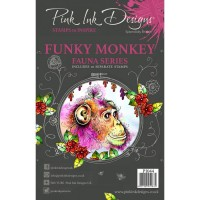 Pink Ink Designs Stamp - Funky Monkey