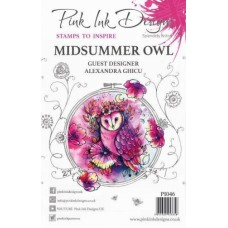 Pink Ink Designs Alexandra Ghicu A5 Clear Stamp Set Midsummer Owl