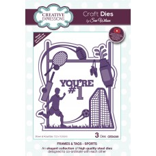 Creative Expressions Sue Wilson Frames and Tags Sports Craft Die