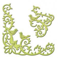 Spellbinders Die D-Lites Bird Scrolls