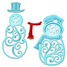 Spellbinder Mr & Mrs Snowman