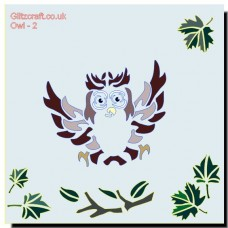 OWL COMIC STENCIL