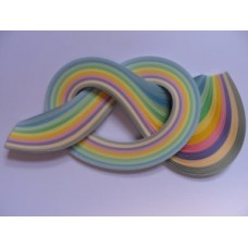 3mm Quilling Papers in Assorted Pastel Shades