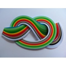 10mm Quilling Papers in Christmas Colours