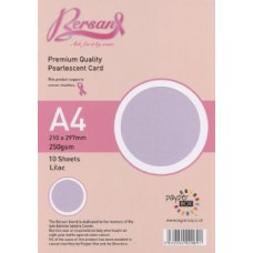 10 Sheet Hanging Pack A4 Lilac Bersan Premium Pearlescent Card 250gsm