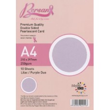 10 Sheet Hanging Pack A4 Duo Lilac and Purple Bersan Premium Pearlescent card 250gsm