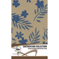 10 Sheet Hanging Pack of A4 Blue Passion Kraft Paper 130gsm