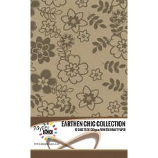 10 Sheet Hanging Pack of A4 Brown Daisy Kraft Paper 130gsm