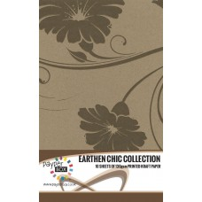 10 Sheet Hanging Pack of A4 Brown Retro Floral Kraft Paper 130gsm