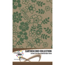 10 Sheet Hanging Pack of A4 Evergreen Daisy Kraft Paper 130gsm