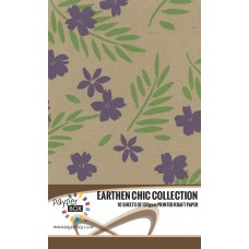 10 Sheet Hanging Pack of A4 Leaf Green & Purple Passion Kraft Paper 130gsm