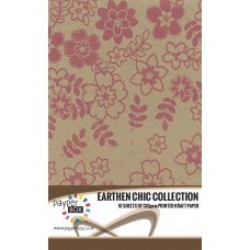 10 Sheet Hanging Pack of A4 Pink Daisy Kraft Paper 130gsm