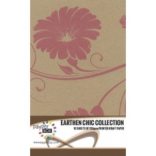 10 Sheet Hanging Pack of A4 Pink Retro Floral Kraft Paper 130gsm