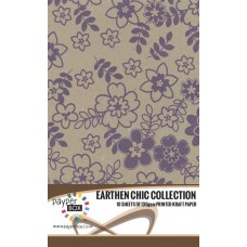10 Sheet Hanging Pack of A4 Purple Daisy Kraft Paper 130gsm